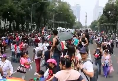 La marcha por el orgullo gay en la CDMX. VIDEO