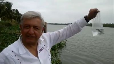 "AMLO atrapa a un ""peje"" en Tabasco. VIDEO"