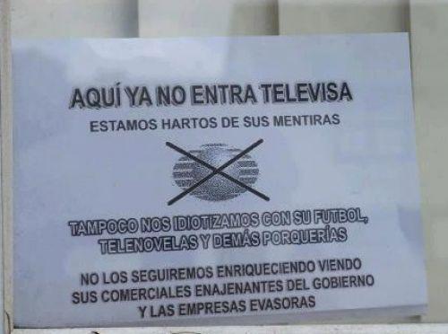 pancarta televisa